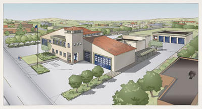 Artist Concept for new LAFD Station 87