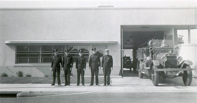 Former LAFD Station 21 in August 1942, nearly a year after opening
