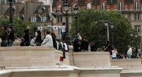 Die Pont Neuf. Hier sind uns besonders viele Touristen entgegen gekommen. Und dabei kam man eh schon nicht durch. Aber naja, die haben ja auch ein Recht auf Paris :)
