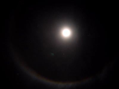 Der Bielefelder Mond-Halo von der Nacht auf den 11.1.06