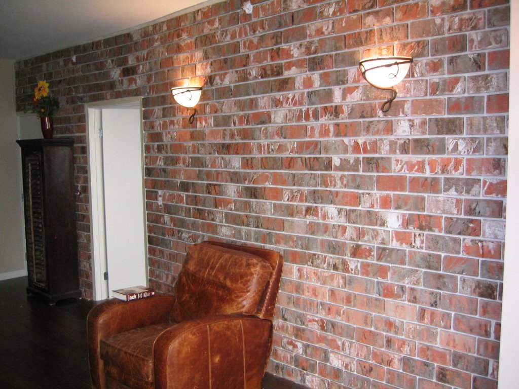 Installing an interior brick wall aka the 39 warehouse for Interior brick wall designs