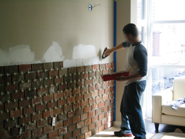 Installing An Interior Brick Wall Aka The 39 Warehouse 39 Effect