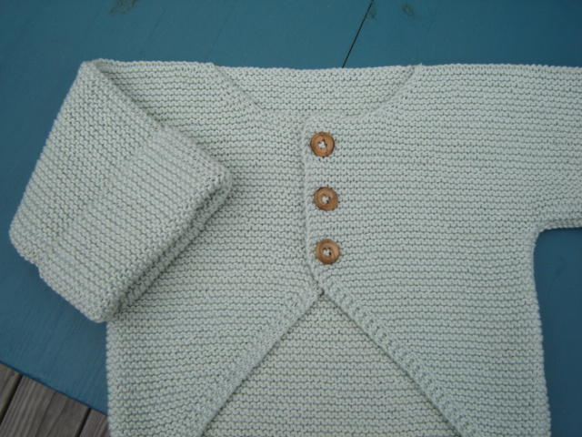 Knitting Pattern Baby Jacket Garter Stitch : finished object: garter stitch baby jacket pepperknit