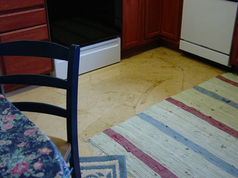How To Make a Rustic Leather Floor from Paper Bags!