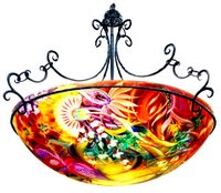 Light fantasy by ulla darni original hand painted chandelier ulla darni azzulina aloadofball Choice Image