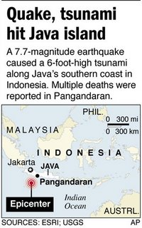 International News : Tsunami and Earthquake hit Indonesia
