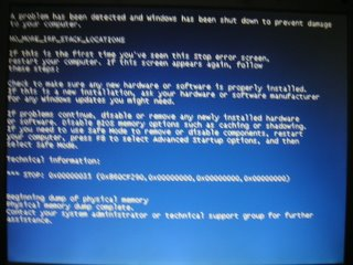 Oh no, not another BSOD.