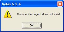 The specified agent does not exist.