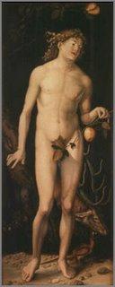 Adam sans skins, sans Eve.
