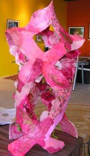 Pink Ribbon Muse Bust Sculpture, Marie Soderlund