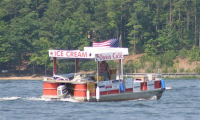 Lake Gaston ice cream boat