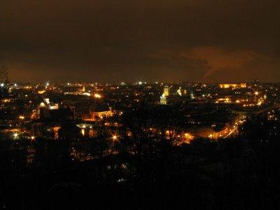 The lights of Vilnius