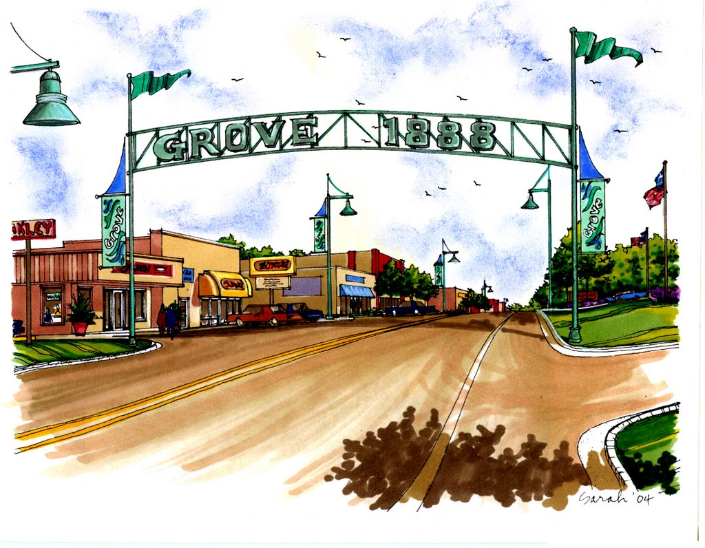 Downtown Revitalization Covers Photo : The grove observer downtown revitalization project ready