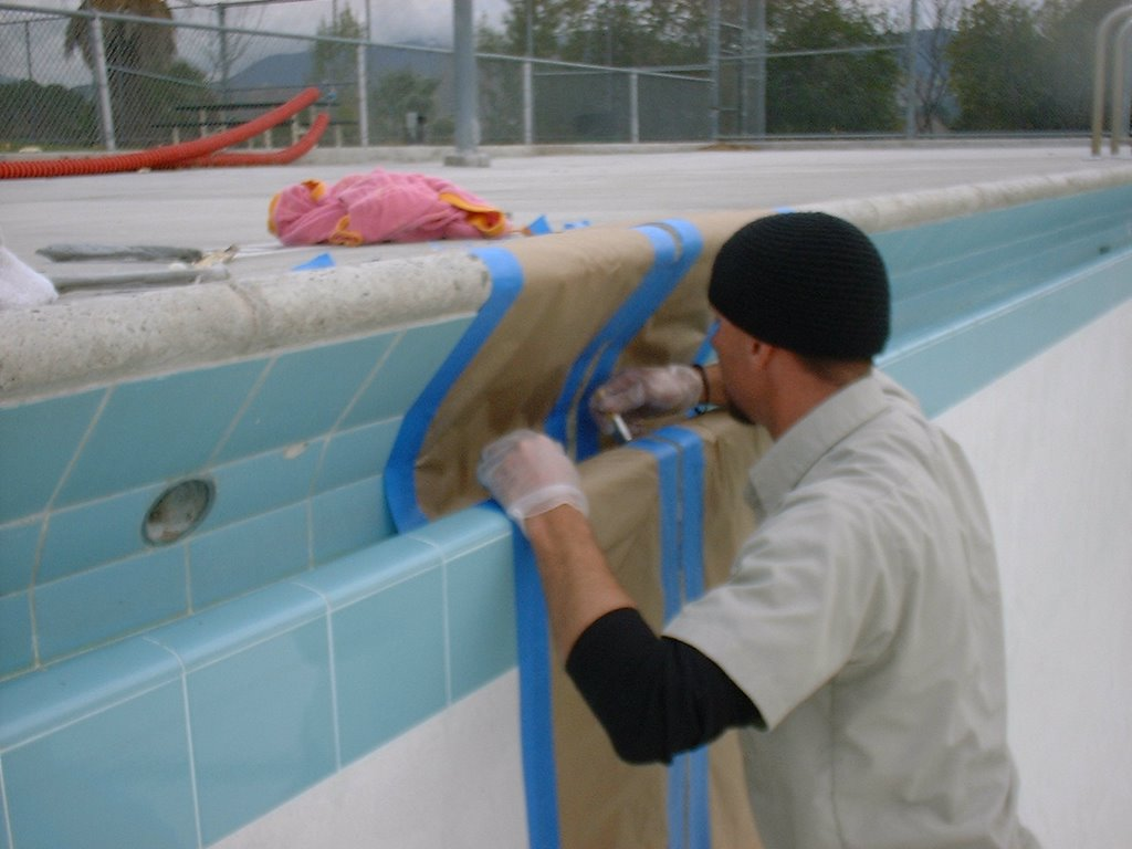swimming pool technician expansion joint pictures