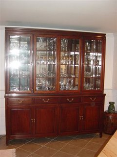 A Superb Piece For Storing And Displaying Silver And Crystal Ornaments In  The Glass Fronted Cabinet With Fitted Lights. Crockery And Cutlery Can Be  Stored ...