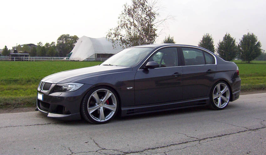 L V Bmw 3 Series With Rieger Body Kit And Custom Red