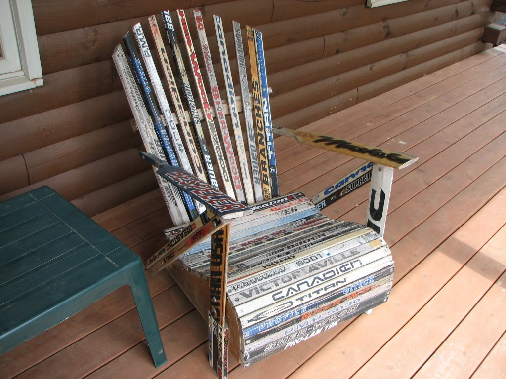 Still Rambling Cool Hockey Stick Chairs