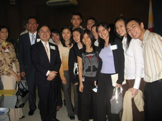 A picture with Mr. Ronnie Chan, speaker of yesterday's Leadership Forum