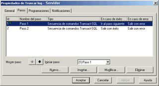 SQL Server - Listado de Pasos