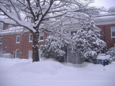 Sarah Lawrence College in the snow