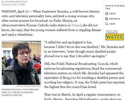 Szczuka w New York Times