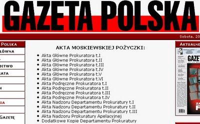 Akta moskiewskiej pożyczki na Gazecie Polskiej
