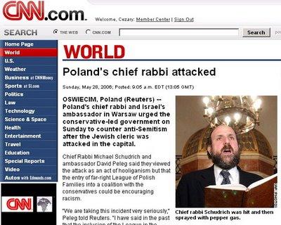 CNN o ataku na rabina Michaela Schudricha