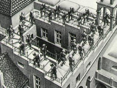 MC Escher, Ascending and Descending