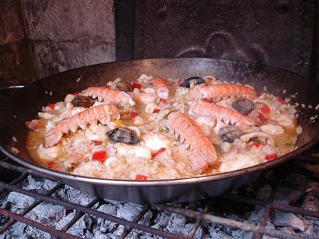 Un dimanche a la campagne Paella du Guilvinec # Paella Feu De Bois