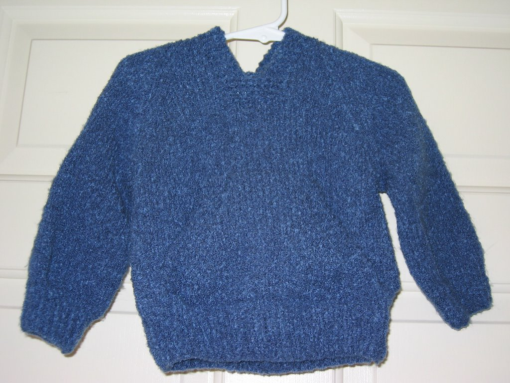 Knitting Pattern For Wallaby Sweater : Knits-N-Purrs Gallery: Wallaby for Aiden, Jan 2005