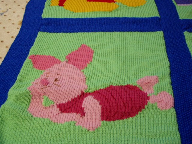 Patons Free Knitting Patterns Sweaters : Knits-N-Purrs Gallery: Winnie-the-Pooh Afghan, Fall 2002