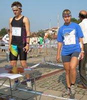 Ангел и Татяна Хренникова на старта