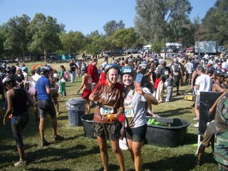 Tia and I after the mud pit