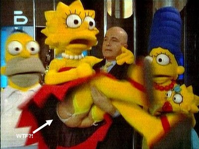 Lisa Simpson enseña el culo