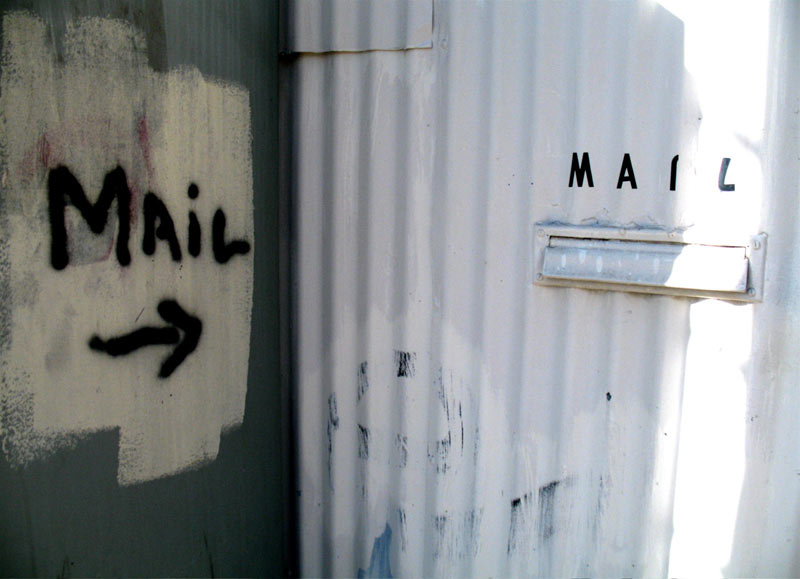 so the mail goes in here, then; click for previous post