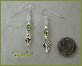 sha-sha handcrafted jewelry = Palm Tree Earrings