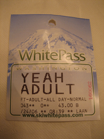 White Pass Lift Ticket