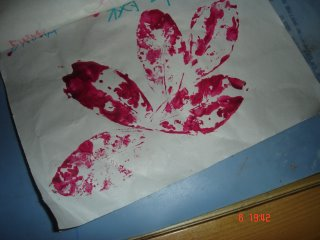 Emma's Work: A tree leaf. 12/2005