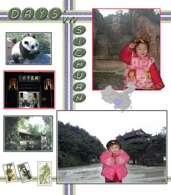 Days in SiChuan. Photo Collage