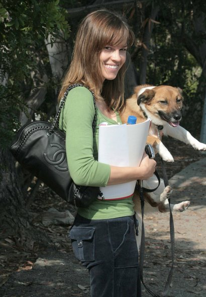 Photo of Hilary Swank & her Dog Karoo