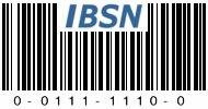IBSN: 0-0111-1110-0