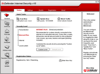 BitDefender Internet Security v10 screenshot