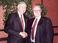 Lloyd Russell(r) with Harry Browne(l) in 2000