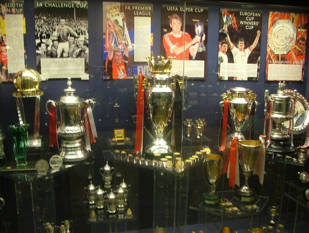 The Trophy Room It Was Large Here You Can See FA Cup 2nd From Left Premiership Middle Uefa Super Cups Winners