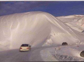 Snow like satin in the Richardson Mountains, Yukon