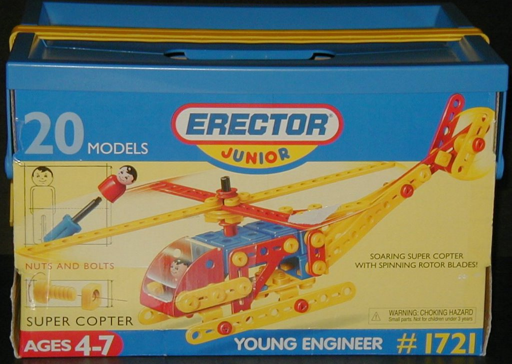 meccano build and play helicopter with Erector Junior on  in addition Meccano Flight Adventure further Meccano Super Construction Set 25 Motorized Model Building Set 638 Pieces Ages 10 Stem Education Toy also Crane Set Toys likewise Meccano  Eitech  Merkur Meccano.