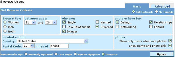 Myspace singles dating