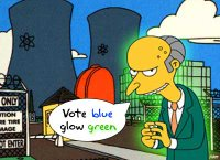 Vote Blue, Glow Green