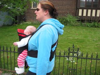 Mia Ruby in the Bjorn first time