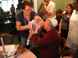 Mia Ruby Stein-Blumberg baby naming, September 17, 2006